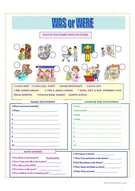 free printable worksheets was were was were worksheet free esl printable worksheets made by