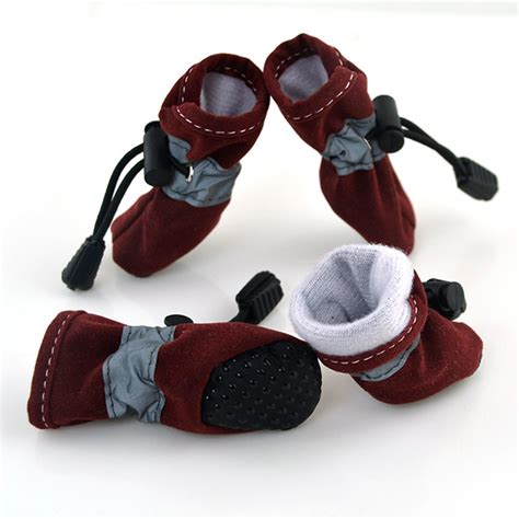 booties for dogs winter warm pet puppy anti slip shoes leather sneakers cat booties ebay