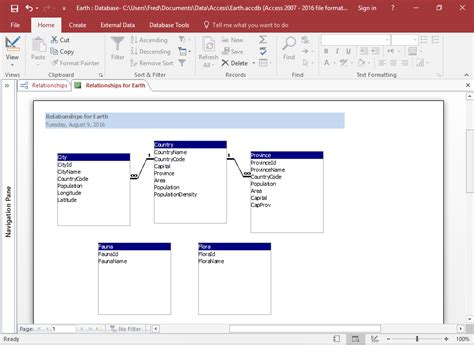 create database design how to create a database diagram in access