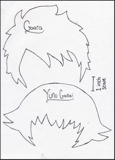 hair template plushie template hair by loolcakes21 on deviantart