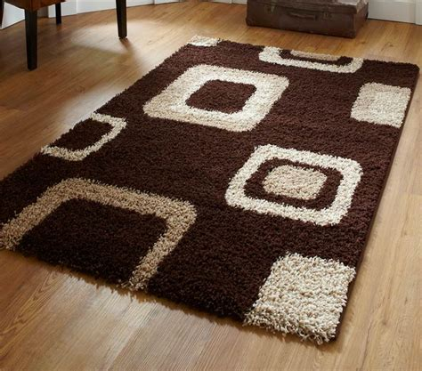 Cheap Green Rugs by Brown Beige Green Check Squares Damask Black Shaggy Modern