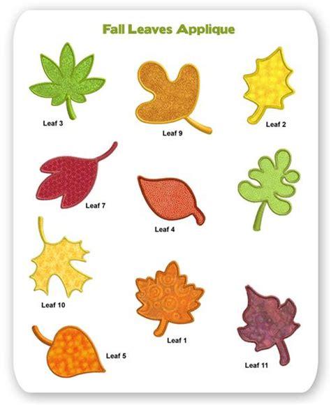 leaf applique fall leaves applique