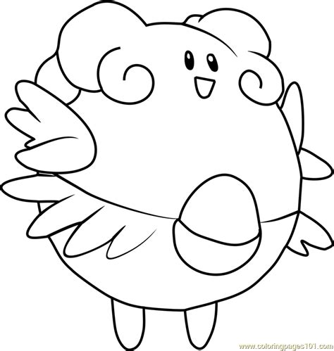 blissey pokemon coloring page free pok 233 mon coloring