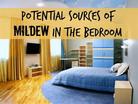 potential sources for mildew odor in a bedroom