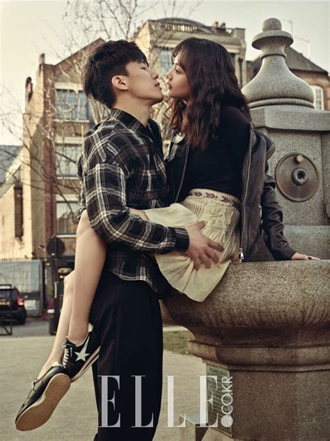 yoo ah in y su novia yoon seung ah and kim moo yeol elle magazine march issue