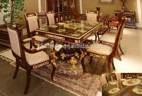 Solid Oak Dining Room Sets by Luxury French Baroque Design Golden Brass Dining Table