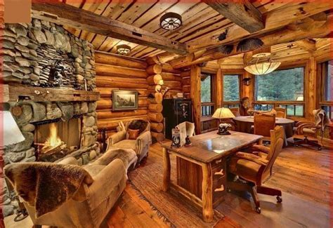 beautiful log home interiors espacios con decoraci 243 n totalmente rustica