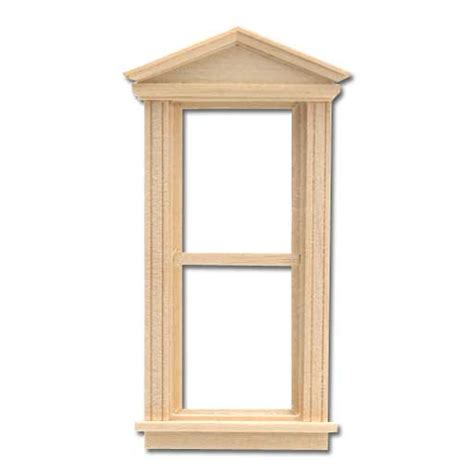 doll house windows half scale window federal pediment 1 24 dollhouse wooden h5055 houseworks
