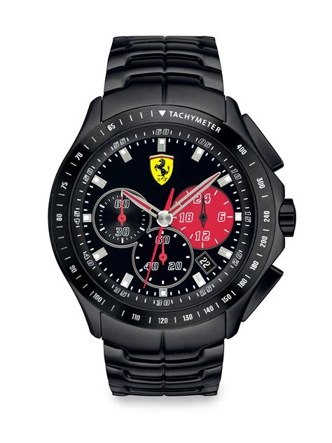 Ferrari Chronograph by Scuderia Ferrari Race Day Chronograph Watch In Red For Men
