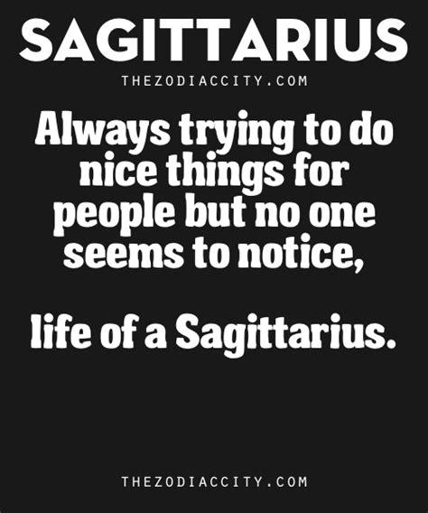 zodiac sagittarius traits always trying to do nice