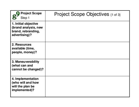 scope analysis template blue strategy method templates
