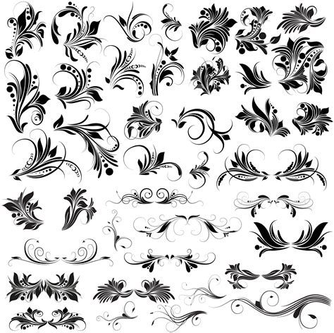 floral pattern vector photoshop floral vectors brushes png shapes pictures free