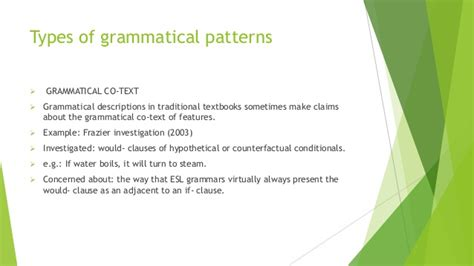 grammatical pattern meaning what can a corpus tell us about grammar