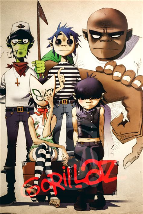 Gorillaz X Size L a 247 custom gorillaz j home decor fashion modern for bedroom wall poster size 27x40cm wall