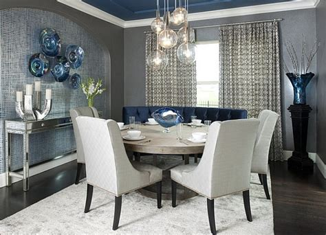 Dining Room Grey Blue Cool Blue And Trendy Grey In The Dining Room