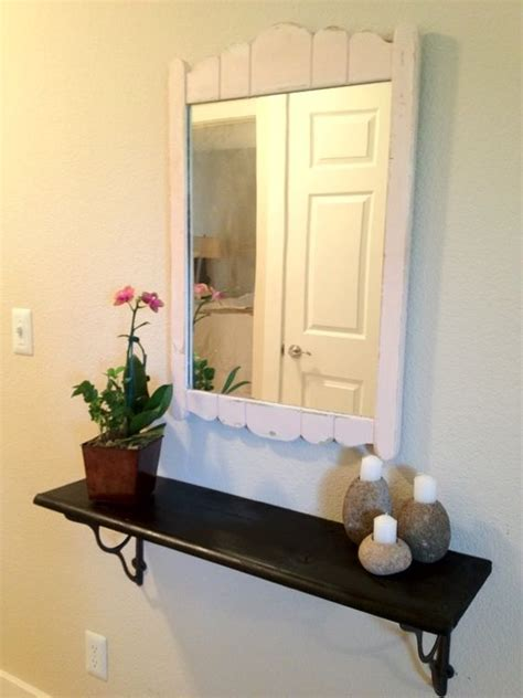diy floating shelf in small foyer projects for the home