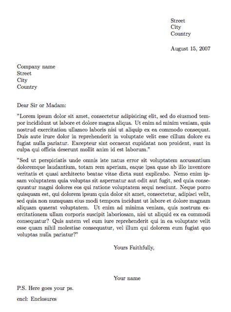 writing letter latex texblog