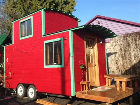 Tiny Houses A Red Caboose Caboose Tiny House
