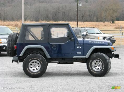 blue jeep rubicon 1997 blue pearl jeep wrangler rubicon 4x4 24436635