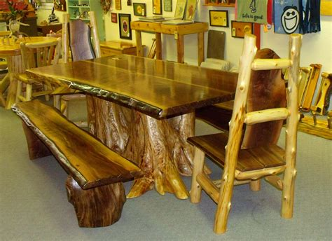 cedar dining room table rustic log table rustic log cabin furniture cedar log