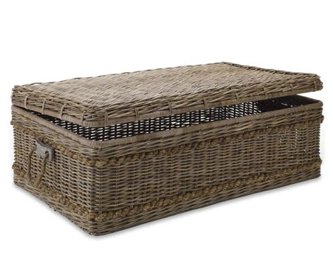rattan trunk coffee table wicker trunk coffee table treasures woven rattan trunk