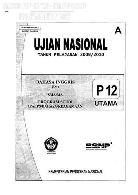 naskah soal un bahasa inggris sma 2011 paket 91 naskah soal un bahasa inggris sma 2010 paket 12