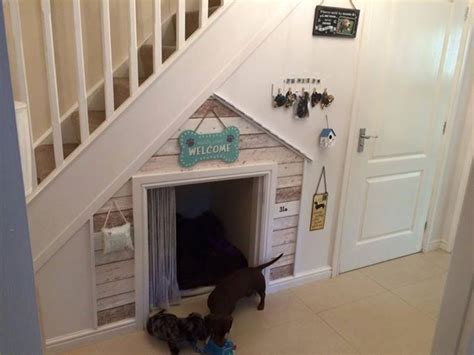 dog house under stairs dog house under stairs love it dog pinterest doggies awesome and happy