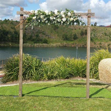 Wedding Arch Stand by Wooden Wedding Arch Ceremonies I Do