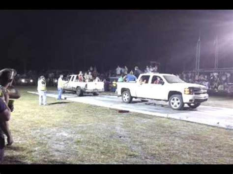 White Chevy Silverado VS White Ford F 150 Round 2 TCR Tug