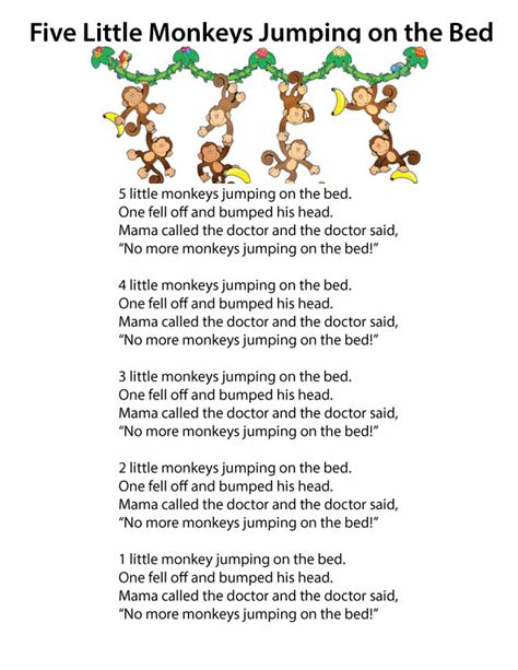 5 monkeys jumping on the bed lyrics monkeys jumping on the bed lyrics 28 images funny miss