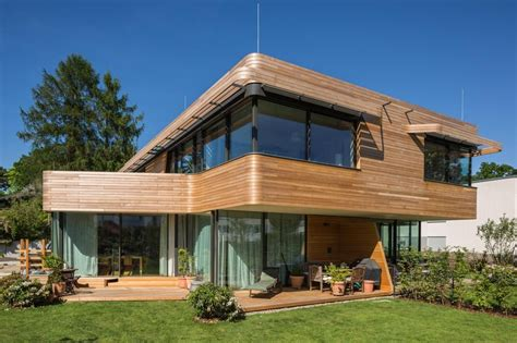Modern Homes Exterior - superbe maison contemporaine en bois aux standards de l 233 co construction construire tendance