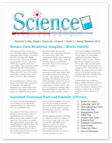 science newsletter templates worddraw free newsletter templates