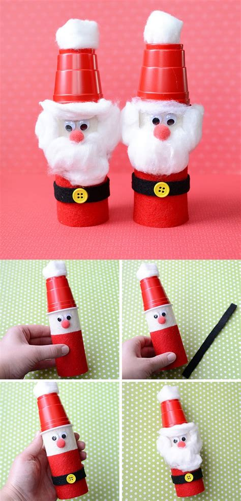 christmas crafts with toilet paper rolls craftshady