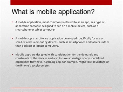 mobile software application architecture of mobile software applications