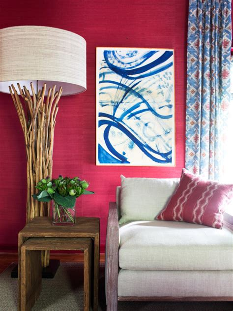 Media Decors Hide And Chic Series Transforms Your Flat Panel In To A Painting At The Touch Of A Button by Media Room Makeover Hgtv