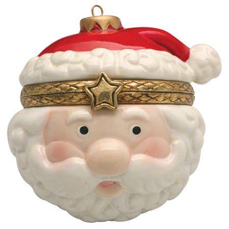 hinged gift box ornaments porcelain tree hinged ornament box jolly santa claus walmart