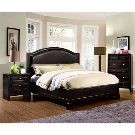 espresso bedroom sets furniture of america basonne 3 piece queen bedroom set in