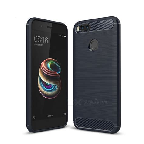 Xiaomi Mia1 Mi A1 Softcase Carbon Fiber naxtop wire drawing carbon fiber textured tpu brushed finish soft phone back cover for