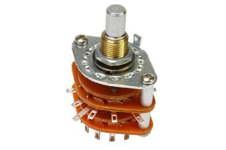 Fujitsu Rotary Switch 3 Pole 26 Step Silver Plated Contact Nos 2 Pcs 5 position rotary guitar selector switch philadelphia luthier tools supplies llc