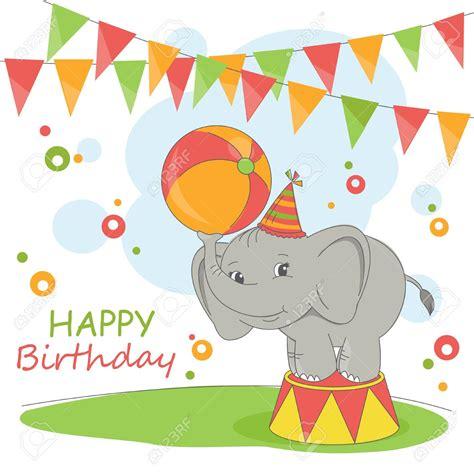 printable birthday cards elephant happy birthday elephant clipart clipartxtras