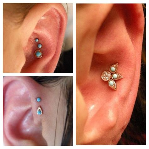 piercing 2 tragus 2 lobe snug inner helix forward