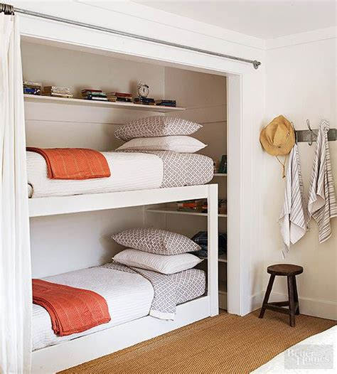 Bunk Bed With Closet Cozy Country Ranch Renovation Creative The Guest And