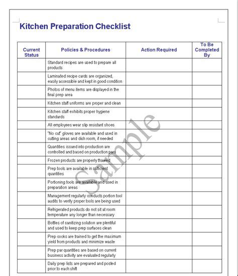 restaurant kitchen cleaning checklist  dandk organizer