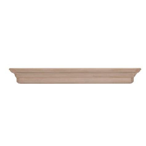 Unfinished Mantel Shelf by The Lindon 6 Ft Unfinished Cap Shelf Mantel 490 72 The