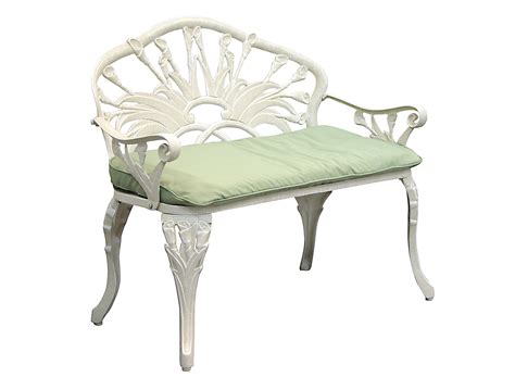cast iron loveseat patio furniture bench cast aluminum iron loveseat calla lily