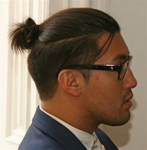 top knot men how long to grow 96 best undercut man bun images on pinterest hairstyles