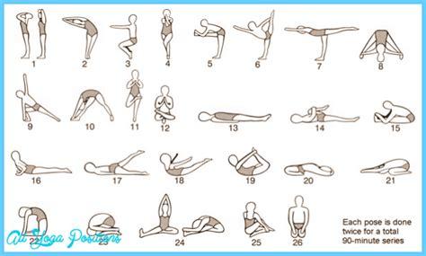 bikram yoga poses for beginners printable bikram yoga poses chart printable all yoga positions