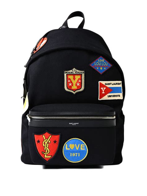 Laurent Backpack city twill backpack with patches by laurent backpacks ikrix