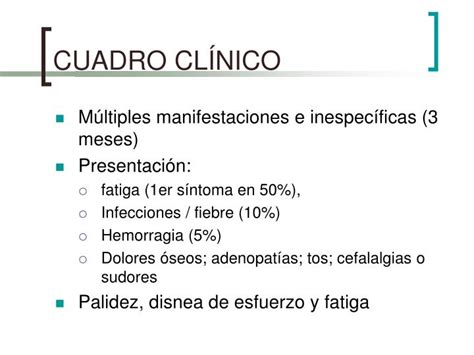 cuadro cl nico ppt leucemia mieloide powerpoint presentation id 827515
