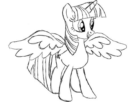 Princess Twilight Coloring Pages 16 My Little Pony Twilight Coloring Pages To Print